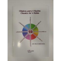 GARCIA: CLASICOS PARA 4 FLAUTAS, 10