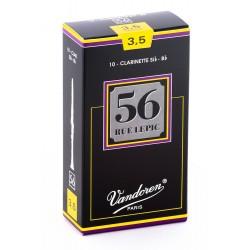 Vandoren 56 Rue Lepic - Caja de 10 cãnas para clarinete, fuerza 3.5