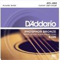 Juego de cuerdas para guitarra acústica de fósforo/bronce, 011' - 052'