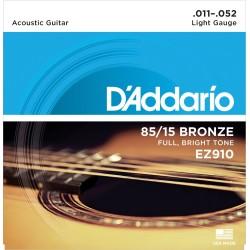 Juego de cuerdas para guitarra acústica de bronce, 011' - 052'