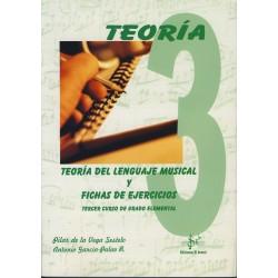 Teoria del Lenguaje Musical y Fichas de Ejercicios Vol.3 Grado Elemental (De la Vega/Garcia)-SIBEMOL -