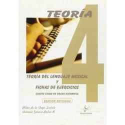 Teoria del Lenguaje Musical y Fichas de Ejercicios Vol.4 Grado Elemental (De la Vega/Garcia)-SIBEMOL -