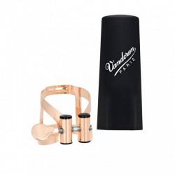 Abrazadera Clarinete Sib Vandoren M/O Oro Rosa LC51PGP con Boquillero Plastico