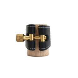 Abrazadera Clarinete Sib Wood Stone Kodama II Cuero negra